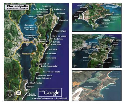Imagens de satélite e legendas de nossa cidade.