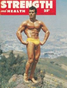Revista da fisiculturismo das antigas. Era por cima dessas fotos que se desenhavam os super heróis.