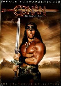 Schwarzenegger como Conan, o protótipo para o He-Man. Até a espada é parecida...